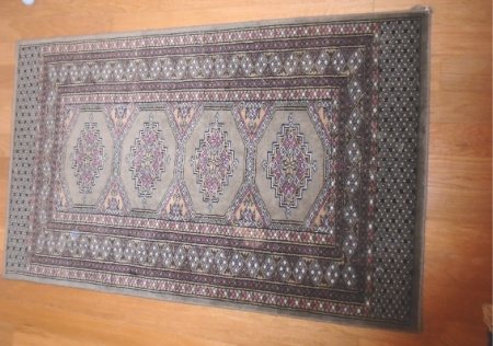 #4 HAND KNOTTED WOOL RUG 49x31