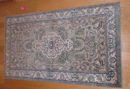#3 HAND KNOTTED WOOL RUG 52x31