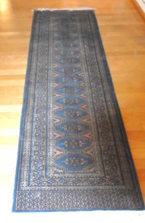 #6 HAND KNOTTED WOOL RUNNER 85x12