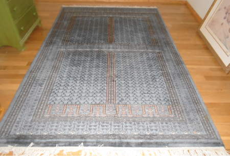 #7 HAND KNOTTED WOOL RUG 76x38