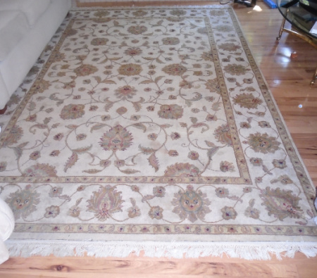 #1 CUSTOM HAND KNOTTED WOOL CARPET 7X10