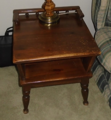 ETHAN ALLEN END/COFFEE TABLE SET