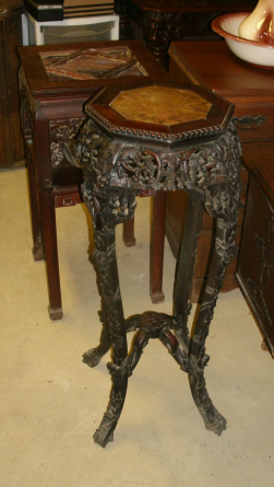 MAHOGANY HAND CARVED STANDS